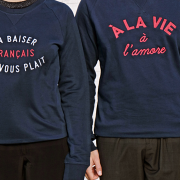 SWEAT NAVY A LA VIE A L AMORE