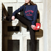 SWEAT NAVY A LA VIE A L'AMORE