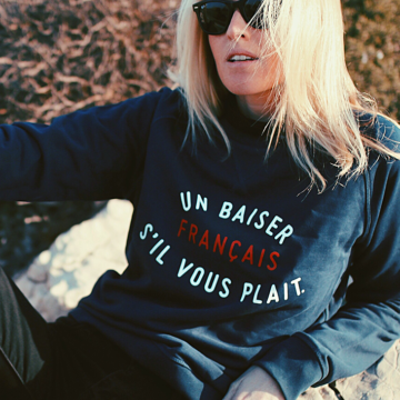 SWEAT NAVY UN BAISER FRANCAIS